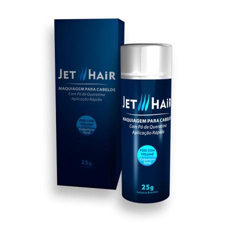 Jet Hair Maquiagem Para Cabelos - 1 Frasco 25G + Spray Finalizador