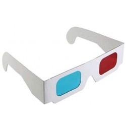 Óculos 3D de Papel Anaglifo Red Cyan