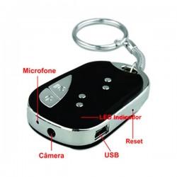 Mini Chaveiro Espião com Câmera Escondida e Gravador De Vídeo - 08 GB