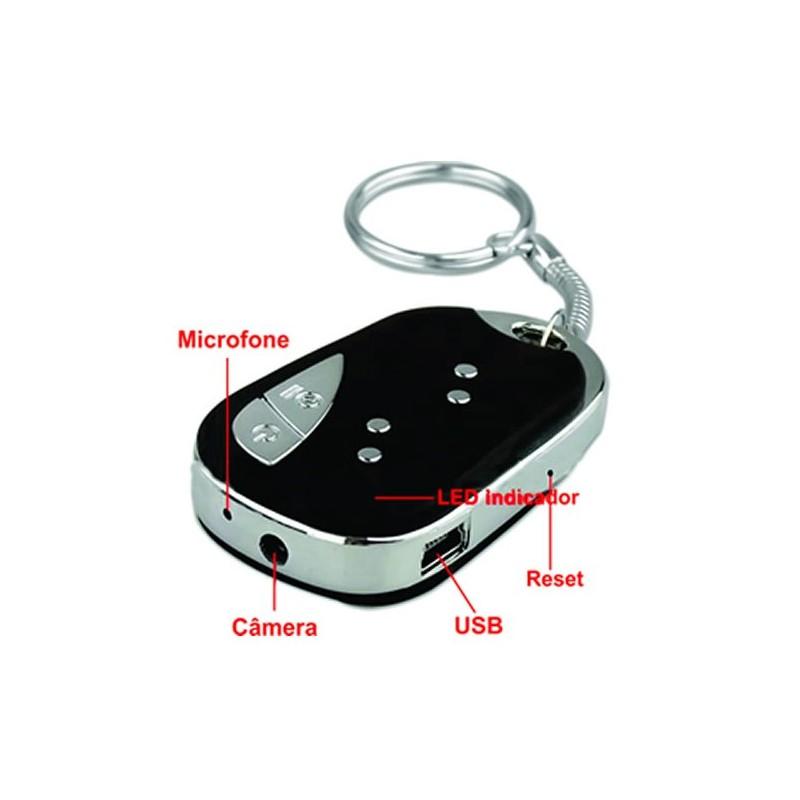 Mini Chaveiro Espião com Câmera Escondida e Gravador De Vídeo - 08 GB 35c6fde99f