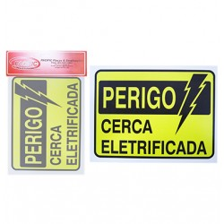 Placa Indicativa Perigo Cerca Elétrica 15 x 20 CM