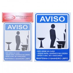 Placa Indicativa Mantenha Limpo Masculino 15 x 20 CM