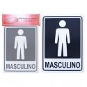 Placa Indicativa Masculino 15 x 20 CM