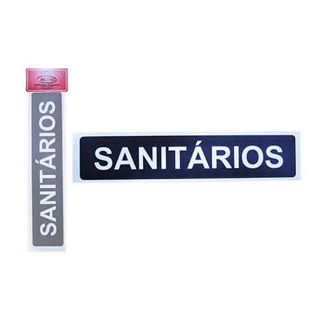 Placa Indicativa Sanitários 7 x 30 CM