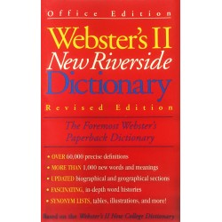 Livro: Webster's II New Riverside Dictionary (Revised Edition)