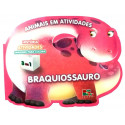 Livro para Colorir: Animais em Atividades - Braquiossauro
