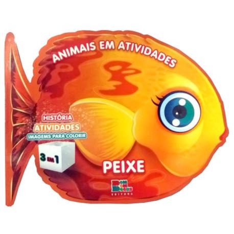 Livro para Colorir: Animais em Atividades - Peixe