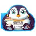 Livro para Colorir: Animais em Atividades - Pinguim