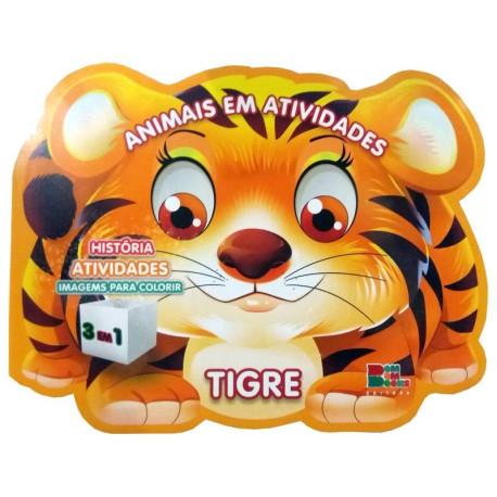 Livro para Colorir: Animais em Atividades - Tigre
