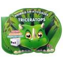 Livro para Colorir: Animais em Atividades - Triceratops