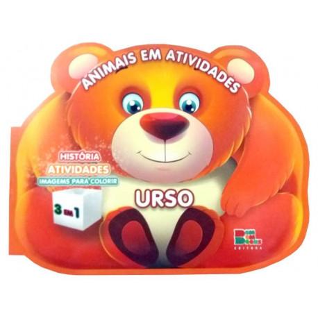Livro para Colorir: Animais em Atividades - Urso