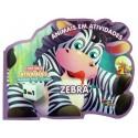 Livro para Colorir: Animais em Atividades - Zebra