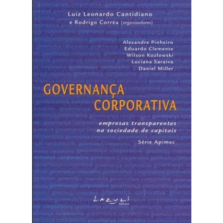 Livro: Governança Corporativa - Empresas Transparentes na Sociedade de Capitais