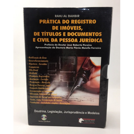 Livro: Prática do Registro de Imóveis, de Títulos e Documentos e Civil da Pessoa Jurídica
