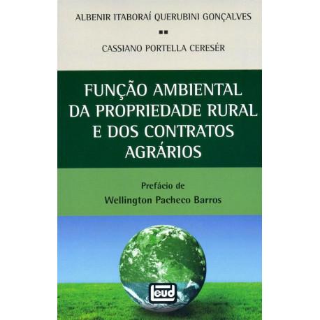 Livro: Função Ambiental da Propriedade Rural e dos Contratos Agrários