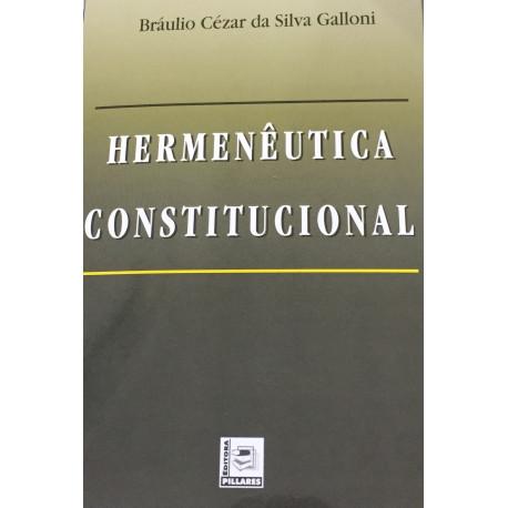 Livro: Hermenêutica Constitucional
