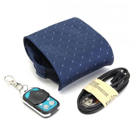 Gravata com Câmera Espiã (Alerta Vibratório e Controle Remoto) - 16 GB