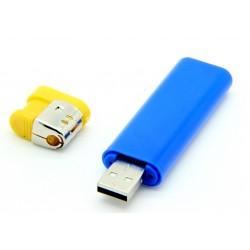 Isqueiro Espião Azul com Mini Câmera Filmadora - 8 GB