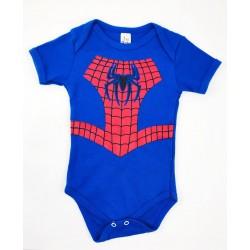 Body Bebê Personagem Homem Aranha - Tamanho P