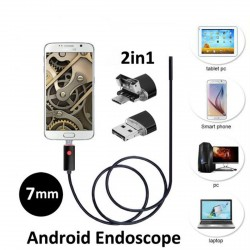 Mini Câmera de Vídeo USB Endoscópio para Android e PC (2 em 1)