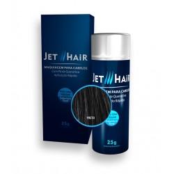 Jet Hair Maquiagem Para Cabelos - Cor Preto - Frasco Grande de 25G