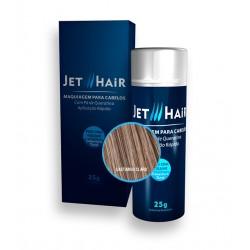 Jet Hair Maquiagem Para Cabelos - Cor Castanho Claro - Frasco Grande de 25G