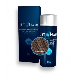 Jet Hair Maquiagem Para Cabelos - Cor Castanho Médio - Frasco Grande de 25G