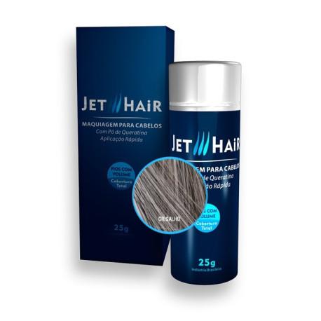 Jet Hair Maquiagem Para Cabelos - Cor Grisalho - Frasco Grande de 25G